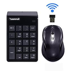 2-in-1 Keyboard Set.Numeric Keypad &Optical Mouse Combos 2.4