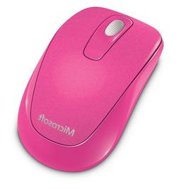 Microsoft 1000 Wireless Mobile Mouse, Magenta Pink