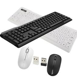 104 Keys Wireless Gaming Keyboard and Mouse Combo for Deskto