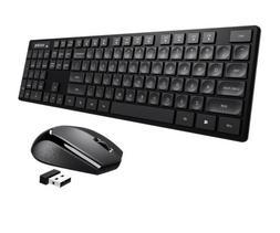 104 Keys Wireless Keyboard and Mouse Combo for Desktop Compu