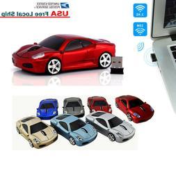 1600DPI 2.4GHz Wireless Optical Car Mouse Mice + USB Receive