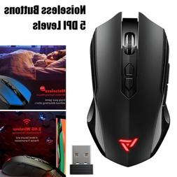2.4G Noiseless Wireless Mouse Silent Click Optical Gaming Mi