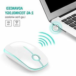 Comb 2.4G Slim Wireless Mouse with Nano Receiver, Less Noise