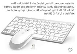 Jelly comb 2.4g slim Wireless Rechargeable Keyboard and Mous