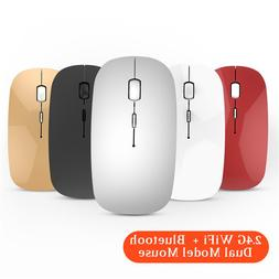 2.4G WiFi + Bluetooth Dual Model Wireless <font><b>Mouse</b>