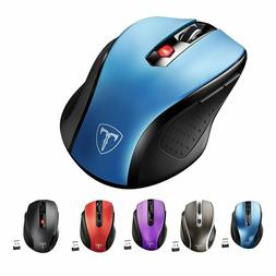 VicTsing 2.4GHz 2400 DPI Wireless Optical Mouse Mice USB Rec