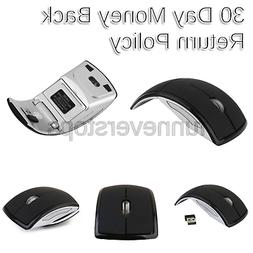 2.4ghz Wireless Foldable Folding Arc Optical Mouse for Micro