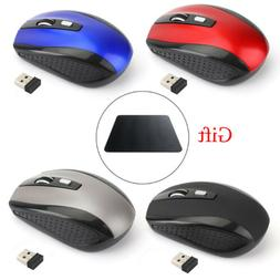 2.4GHz Cordless Wireless Optical Mouse Mice For Laptop PC Co