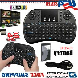 2.4GHz Mini Wireless Backlit Keyboard Touch Pad Mouse Androi