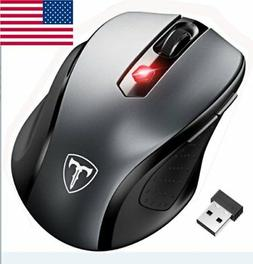2.4GHz Mini Wireless Cordless Optical Mouse Mice USB Receive