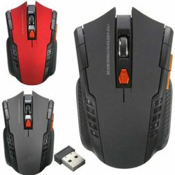 2.4Ghz Mini Wireless Optical Gaming Mouse Mice + USB Receive