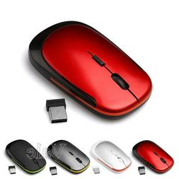 2.4GHz Optical Wireless Rounded Slim Mouse Mice For Mac Macb