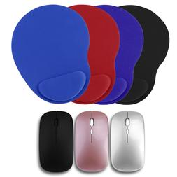2.4Ghz Rechargeable Wireless Mouse USB Receiver EVA Mice Pad