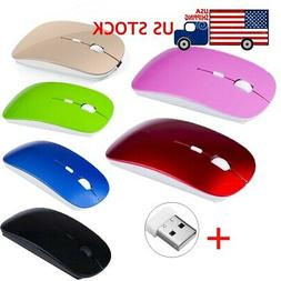 2.4GHz Rechargeable Wireless Mouse USB Receiver Mice For Com