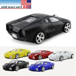 2.4Ghz USB Optical Wireless mouse Lamborghini car Gaming mic