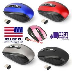 2.4GHz Wireless 2000DPI Cordless Optical Mouse Mice USB Rece