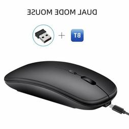 2.4GHz Wireless Bluetooth Dual Mode Mouse Rechargeable Mice