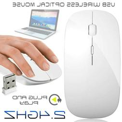 2.4GHz Wireless Cordless Optical Mouse Mice USB Receiver for