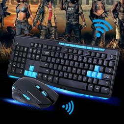 2.4GHz Wireless Gaming Gamer Keyboard And Mouse Combo For De