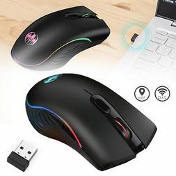 2.4GHz Wireless Gaming Mouse 1600DPI 7 LED RGB Color G06 Wir
