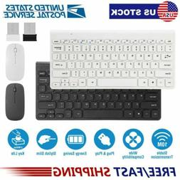 2.4GHz Wireless Keyboard Mouse Combos With USB Receiver For