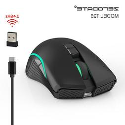 2.4GHz Wireless Mouse 2400 DPI Blacklight 7 Button Gaming Mo