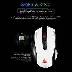 2.4GHz Wireless Mouse Game Mice 1600DPI Support 24 Languages