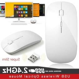 2.4GHz Wireless Mouse Silent Button Ultra Thin USB Optical M