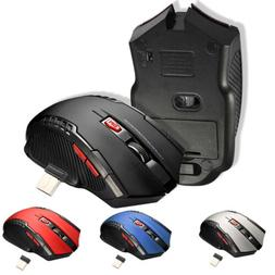 2.4GHz Wireless Optical Gaming Mouse USB Adapter Receiver Fo