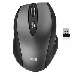 Splaks 2.4Ghz Wireless Optical Mouse, 4 Buttons, Adjustable