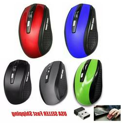 Wireless Optical Mouse Mice & USB Receiver For PC Laptop Com