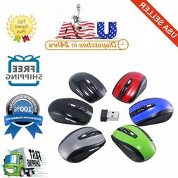 2.4GHz Wireless Optical Mouse With USB Receiver & 3 Adjustab