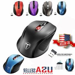VicTsing 2.4GHz Wireless Optical Mouse With USB Receiver 240