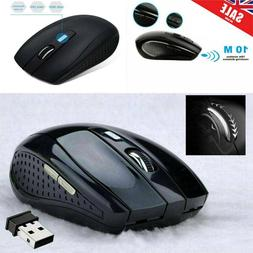 2.4GHz Wireless Optical Scroll Mouse Mice & USB For PC Lapto