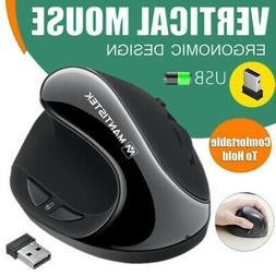 2.4GHz Wireless Vertical Mouse Ergonomic Adjustable Optical