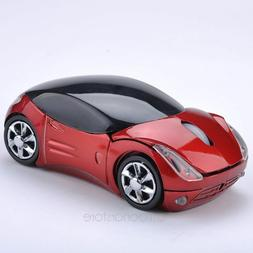 Car Optical 2 Mouse Wireless Pc Usb Mice Laptop Shaped 3d 4g