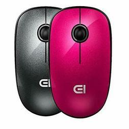 2 Pack Wireless Mouse , FD V8 2.4G Slim Silent Travel Cordle