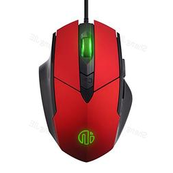 Inphic 2400 CPI High Precision USB Wired Gaming Mouse,6 Butt