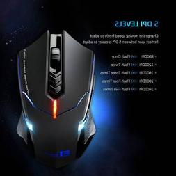 2400 DPI Wireless 2.4G Optical Gaming Mouse Mice for Dell HP