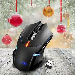 2400 dpi wireless gaming mouse led optical