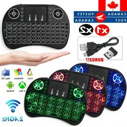 3 Colors Backlit i8 Mini Wireless Keyboard 2.4ghz Mouse Touc