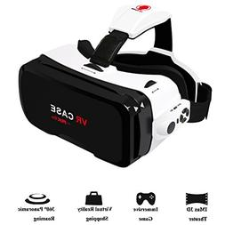 3D VR Glasses, Coxtech 360° 3D Virtual Reality Headset 3D M