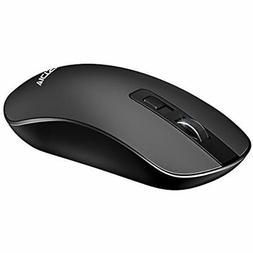 4-Button Mice Slim Silent Wireless Mouse,3 Adjustable CPI Le