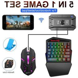 5 in1 Gaming Set Wireless Bluetooth Gamepad One-handed Keybo