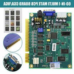 60 in 1 Multicade PCB Board CGA/VGA Output For Classic Jamma