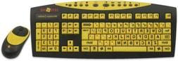 AbleNet Keys-U-See Wireless Large Print English USB Keyboard