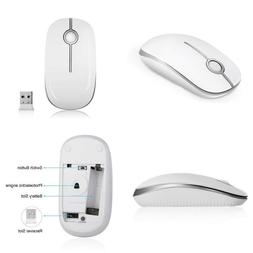 Jelly Comb 2.4G Slim Wireless Mouse with Nano Receiver, Less