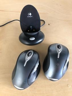 Logitech M-RAG97 Wireless MX Laser Mouse W/ Dock Receiver &