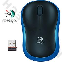 Logitech NEW M185 BLUE Wireless Optical Mouse Compact for PC