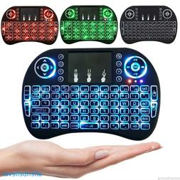 Mini 2.4G Backlit Wireless Touchpad Keyboard Air Mouse For T